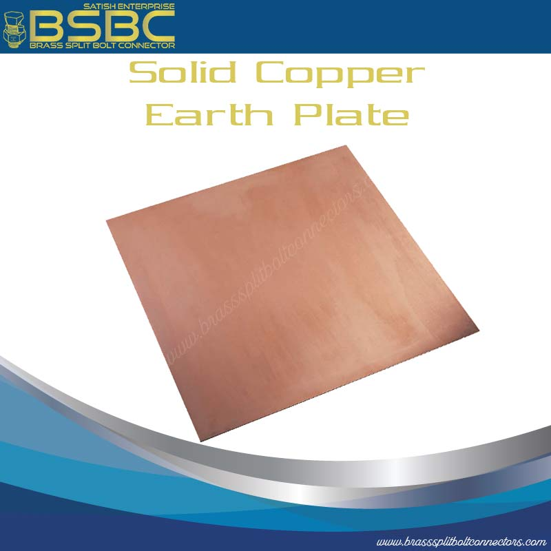 Solid Copper Earth Plates