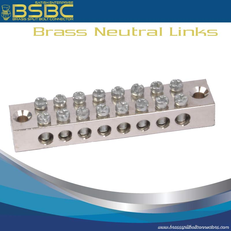 Brass Neutral Links / Earth Terminal Blocks
